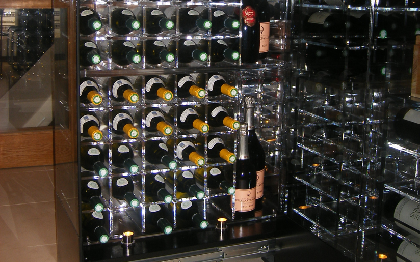 Wine Cellar Bay...in this case one of six bays, each of which has motorised remote controlled opening and closing.